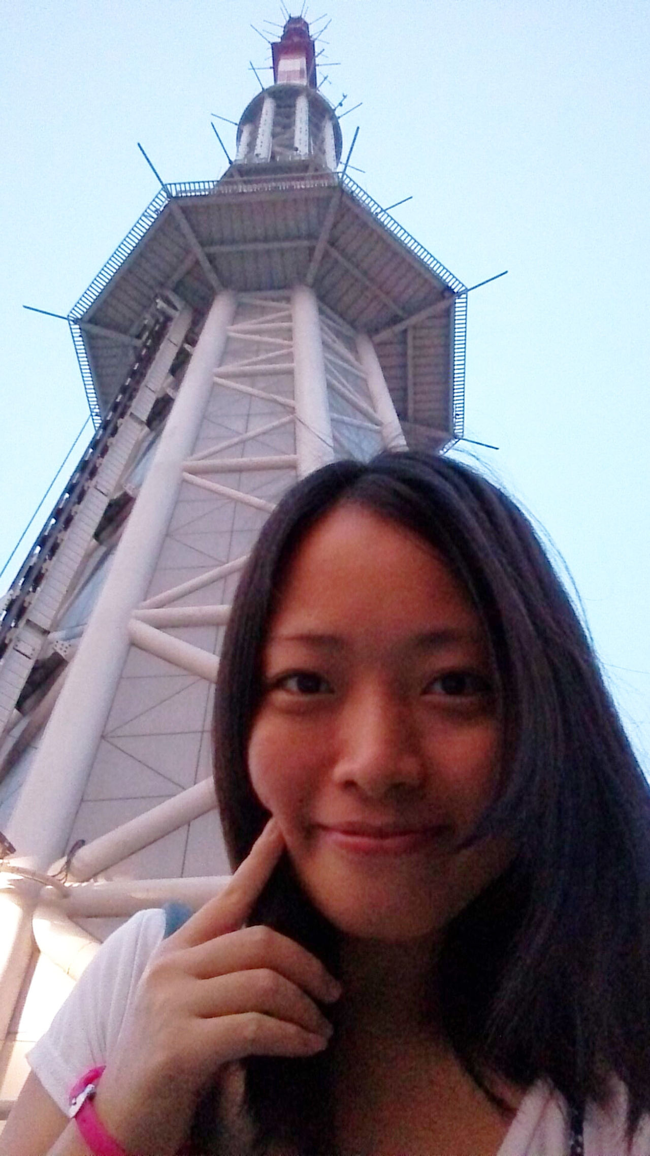 Taking Photos Guangzhou Canton Tower Selfile