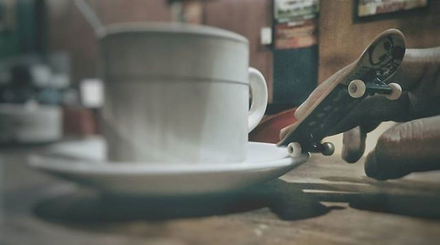 Have a cup of coffee as you expand your imagination Igdumai Seputardumai Dumai Viennacoffee Warkop Coffee Htcone HTC HTCOneM7 VSCO Vscogood Exploringalone Story Cupofcoffee Latte Afternoon Gadgetgrapher Gadgetgrapher_riau Grainy Brown Cafe Fingerboard Techdeck