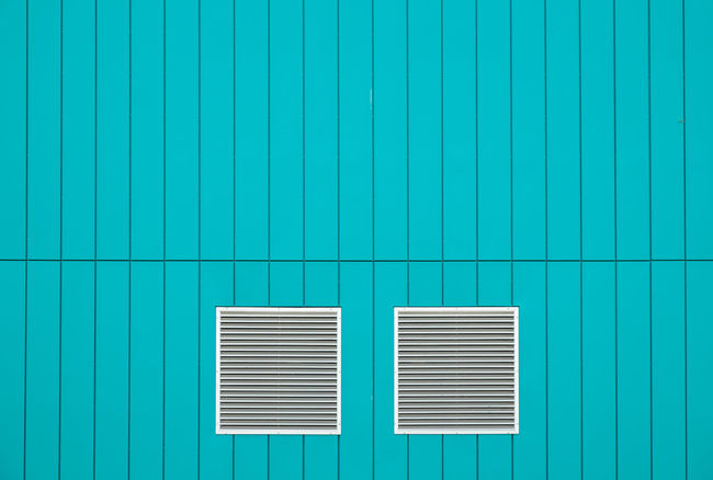 Saturdaysimplicity Architectural Detail Architectural Feature Blue Building Exterior Cityexplorer Close-up Full Frame Geometric Shape Minimal Minimalism Minimalist Minimalistic Minimalobsession No People Pattern, Texture, Shape And Form Patterns Simplicity Surface Structure Surfaces And Textures Turquoise Colored Urbanphotography Vibrant Color