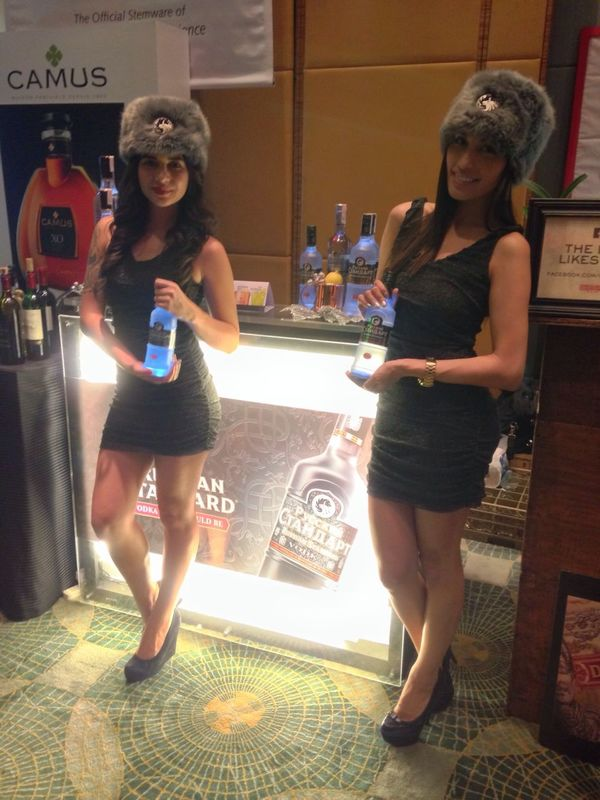 Our Russian Standard Vodka counter with the DAVAI girls. @RSVodkaPH 13thGWE Grandwineexperience