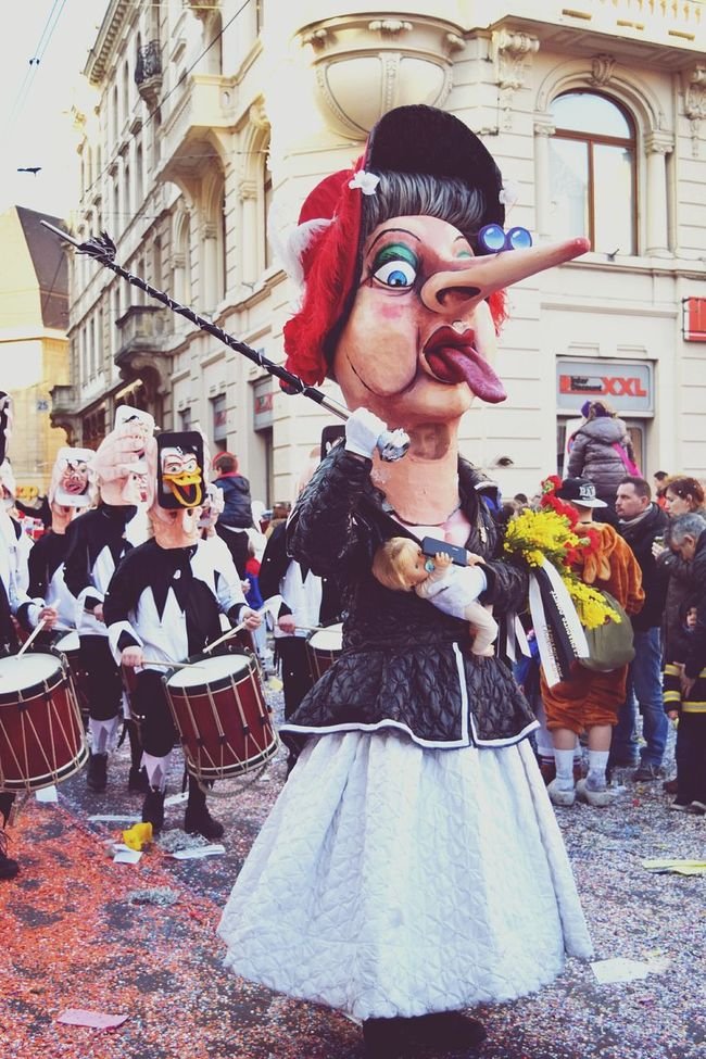 Hehe that's a good one ^^ Costume Fasnacht Basler Fasnacht Eye4photography  EyeEm Best Shots Picoftheday Noise Streetphotography