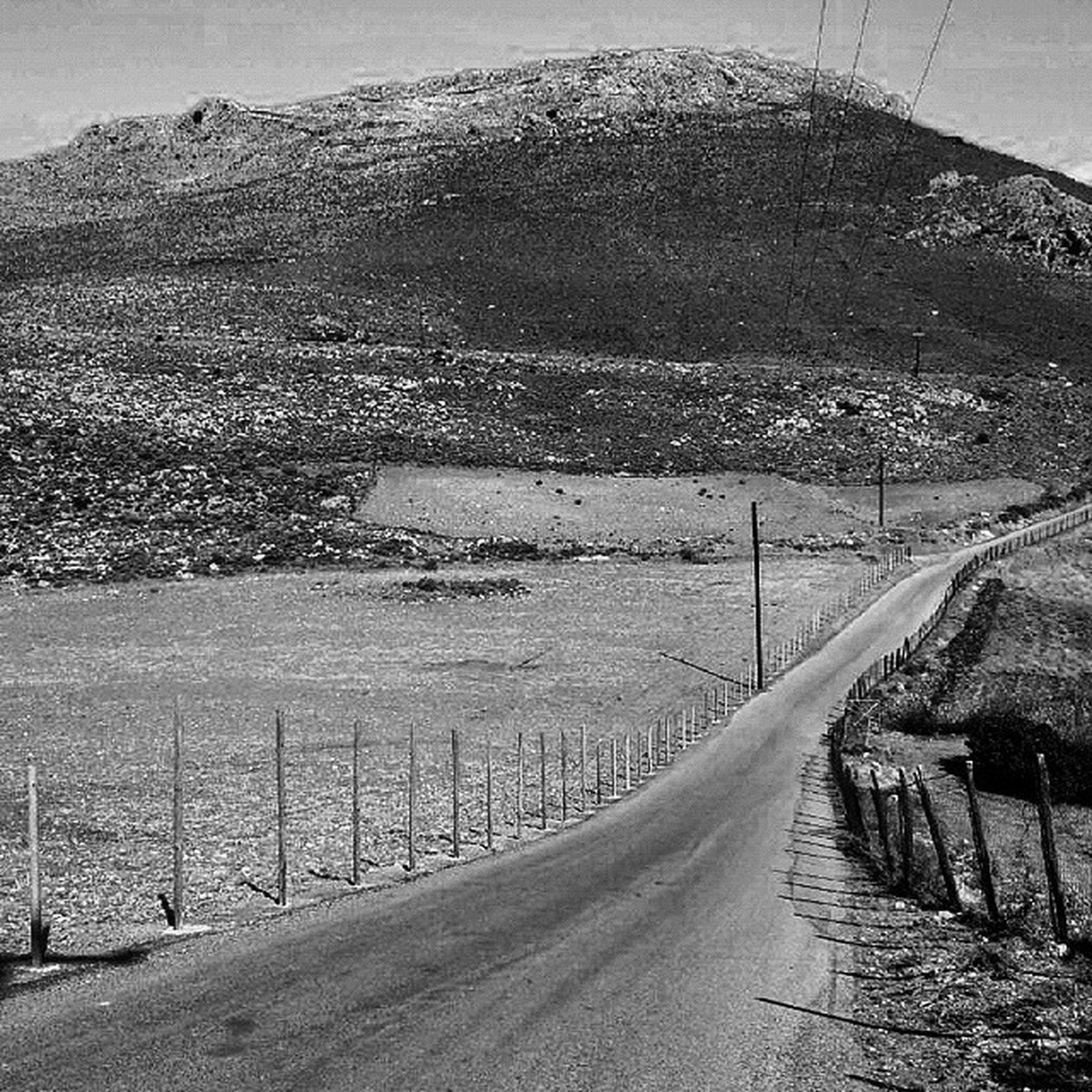 way out Crete Greece Foinikas Bw monochrome