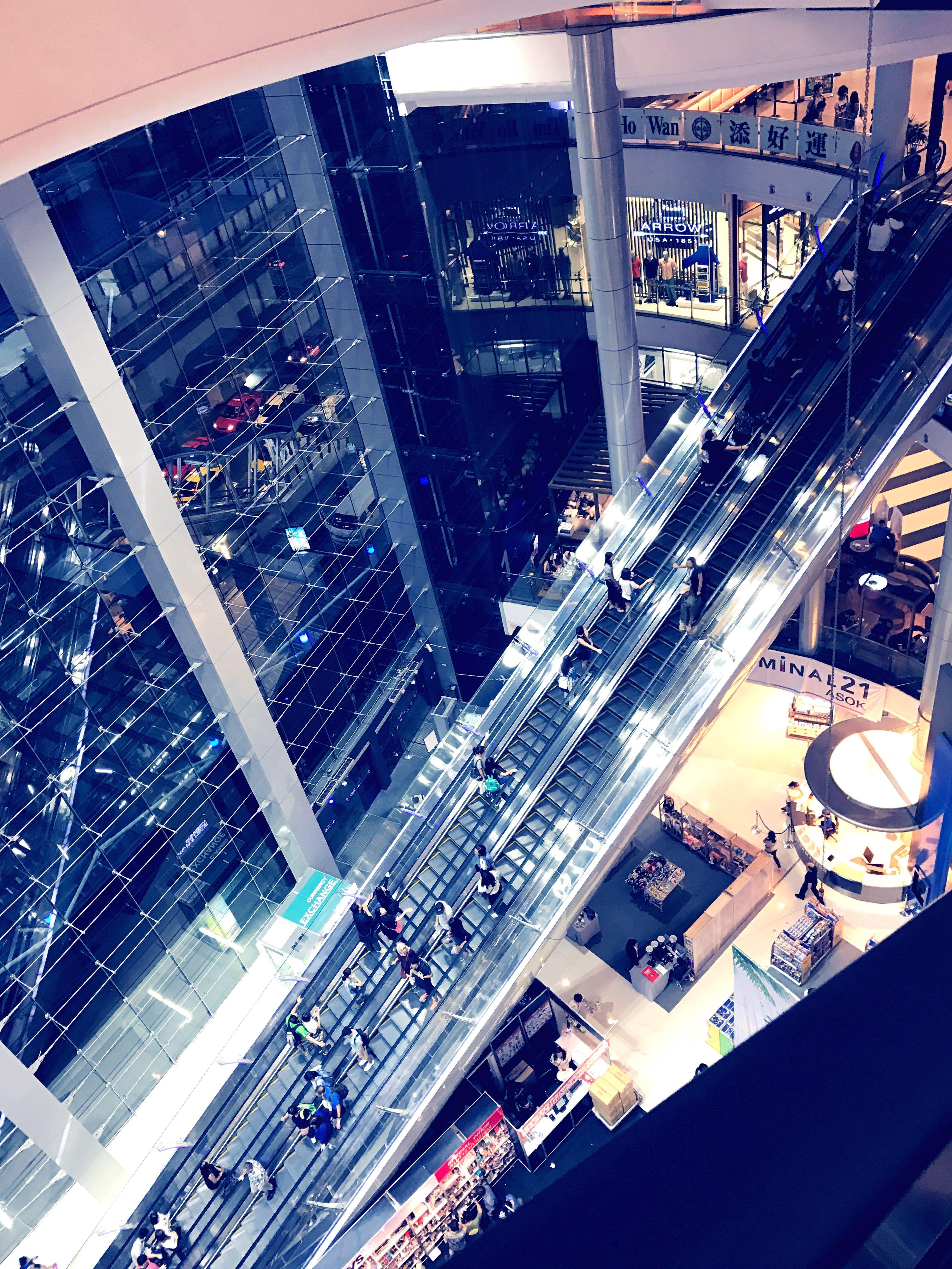 Elevator Elevated Walkway Terminal 21, Shopping Mall Bangkok