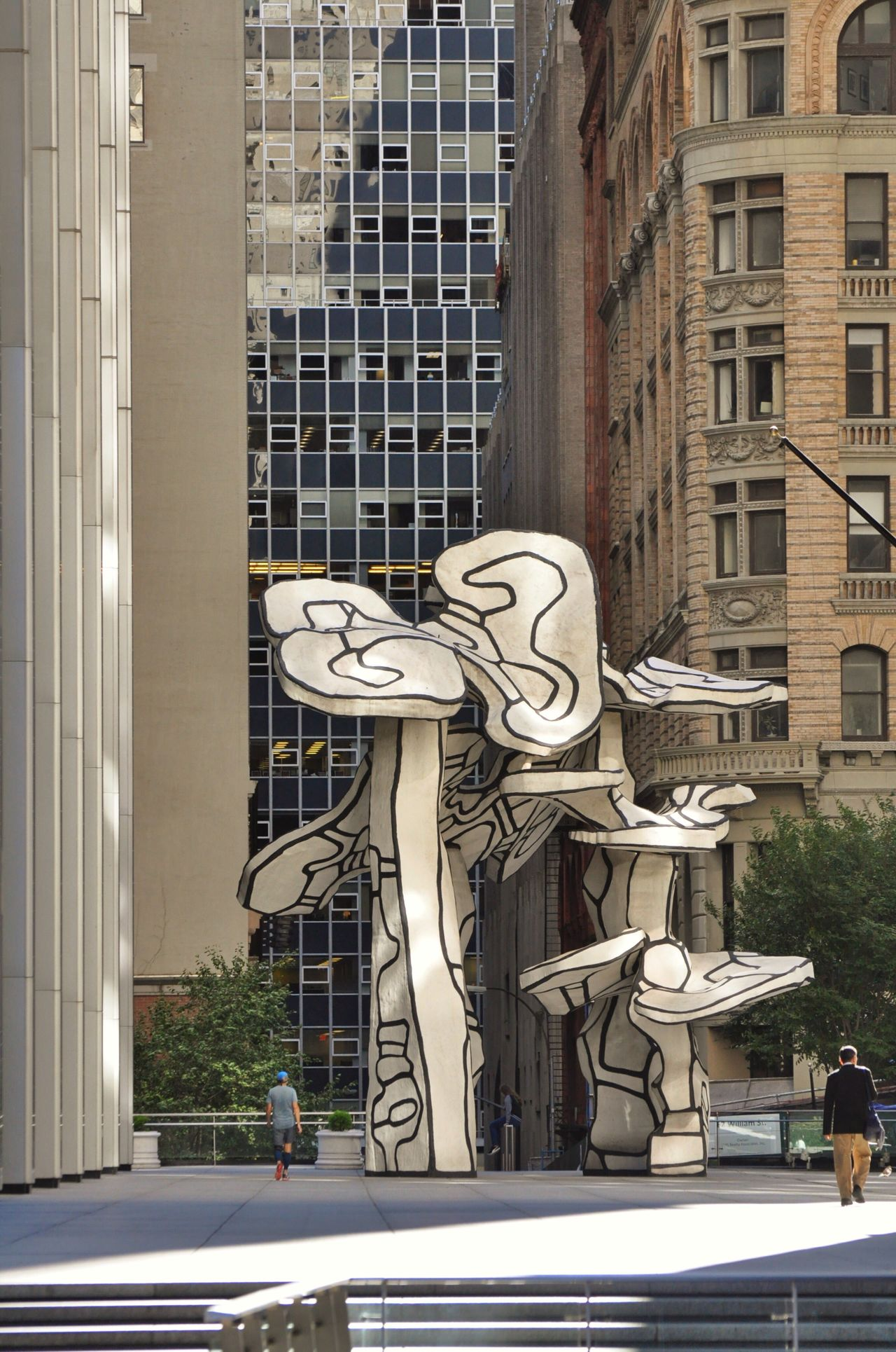 Dubuffet New York New York City Manhattan Downtown Financial District  Art ArtWork Sculpture City Outdoors Urban Geometry
