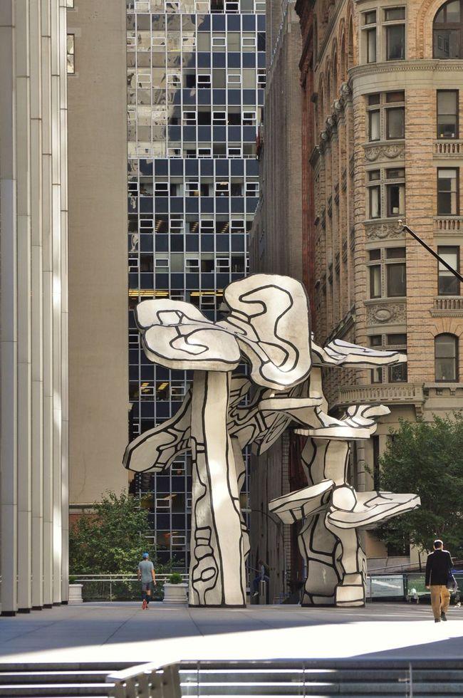 Dubuffet New York New York City Manhattan Downtown Financial District  Art ArtWork Sculpture City Outdoors Urban Geometry
