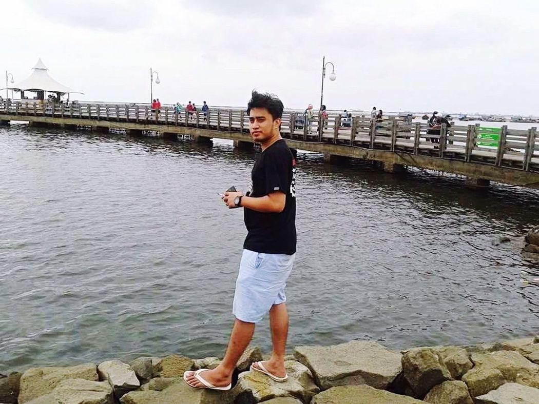 AncolBeach Jakarta Utara the first day of my freedom
