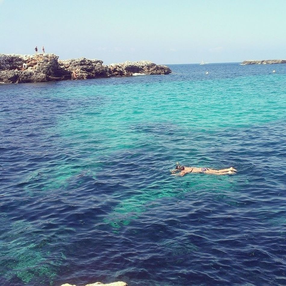 Solo dos dias me quedan en este paraiso Menorca Lasollas Paraíso Nadandoconpeces 🌴☀😍