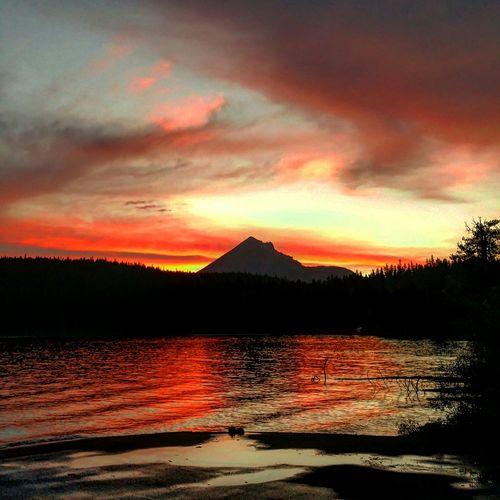 Oregon Sunset Lake