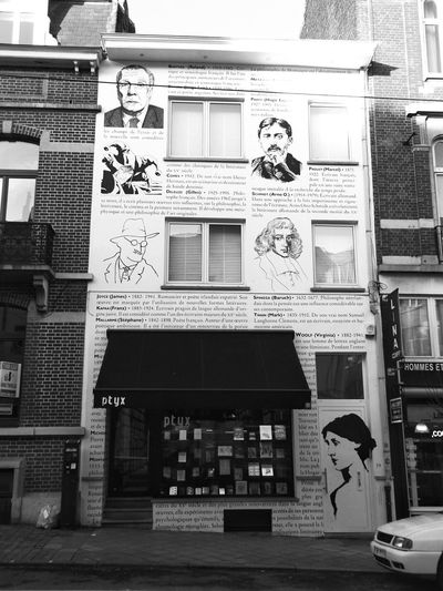 Lyrics Words Written On The Wall Writing On The Wall Writers Ptyx Library Historical Authors Gorgeous Facade Architecture Facade Architecture Poetry Sunlight Streetphotography Ixelles