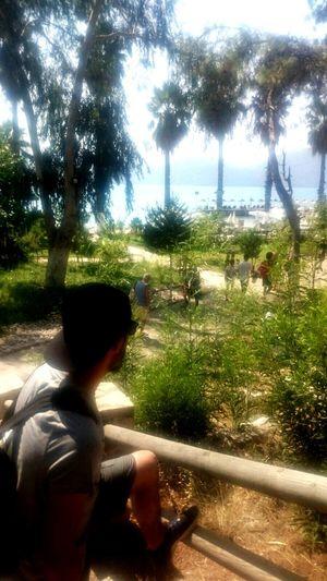 Hi! Enjoying The View Sea And Sky Tree People Beauty In Nature Outdoors In Akyaka, Mugla Nature Seascape Relaxing