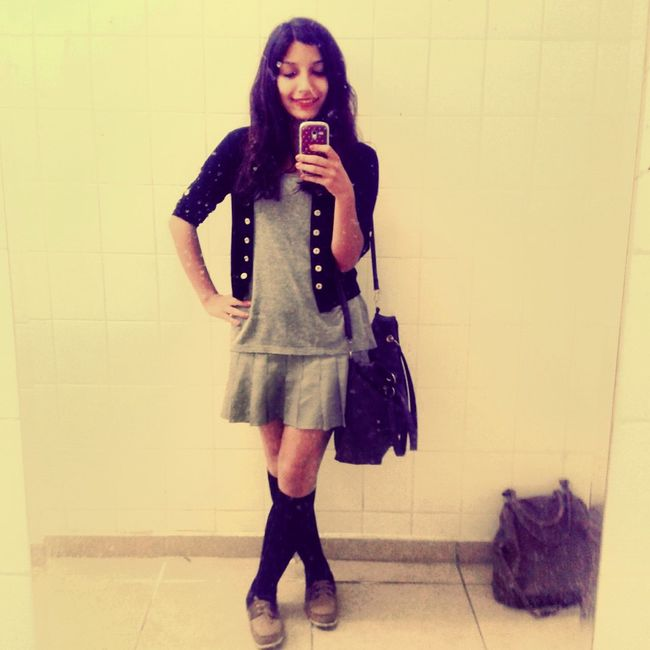 At School End Day Mirror