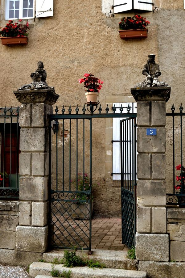Architecture Building Exterior Built Structure Flower Gate Old Building  Old Buildings Open Gate Wrought Iron