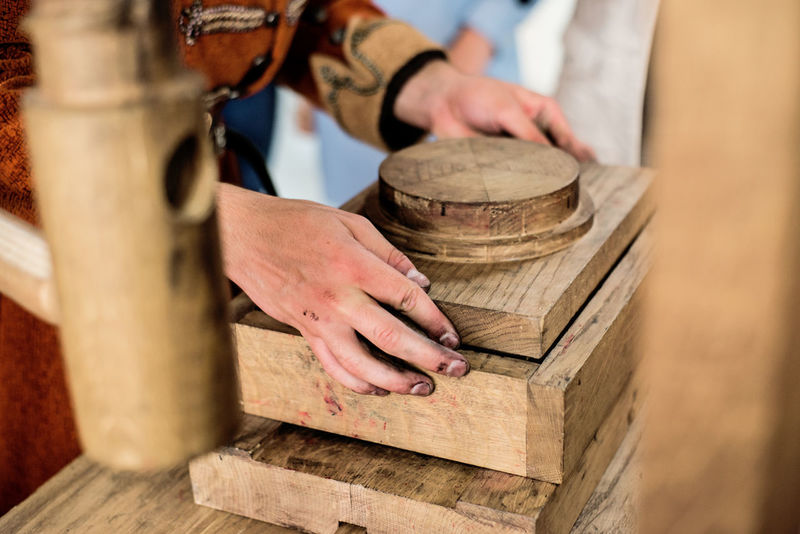 Wood Hand Human Body Part Human Hand Lumber Industry Skill  Wood - Material Work Tool Workshop Press Bible Book Close-up Handemade Historical History Art Artist