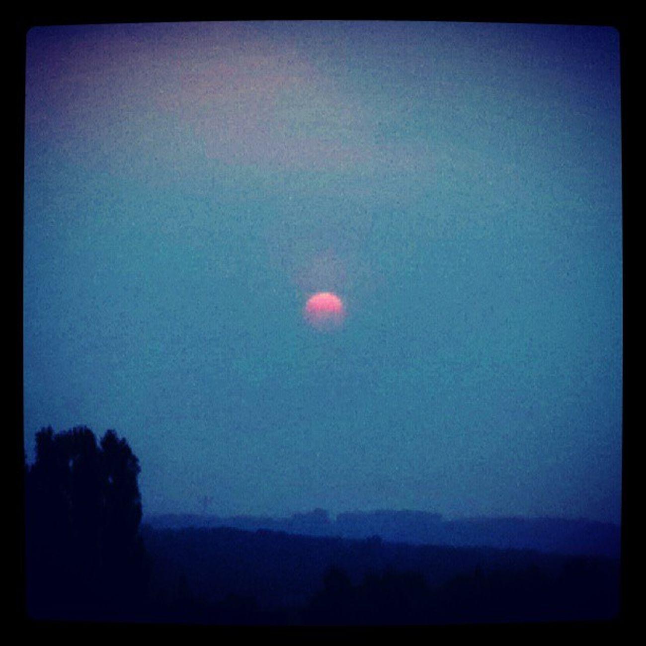 Le soleil se couche sur Gouvieux