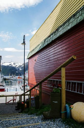 Behind the housedHonningsvag Cape North Norway Street Photography Streetphotography Urban Geometry Landscape Picture The Great Outdoors With Adobe