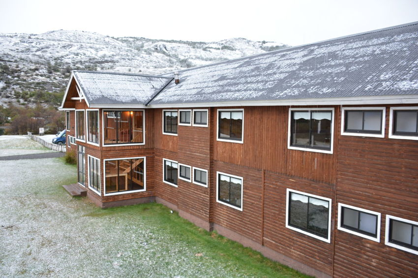 Hostels and snow Hostel View Nature Patagonia Chile Snow ❄ Winter Hostels Park Snowing