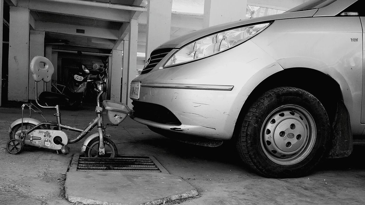 Attitude Car Transportation Cycling Cycle Small Is Big No People Indoors  Mode Of Transport Stationary Day The Week On EyeEm