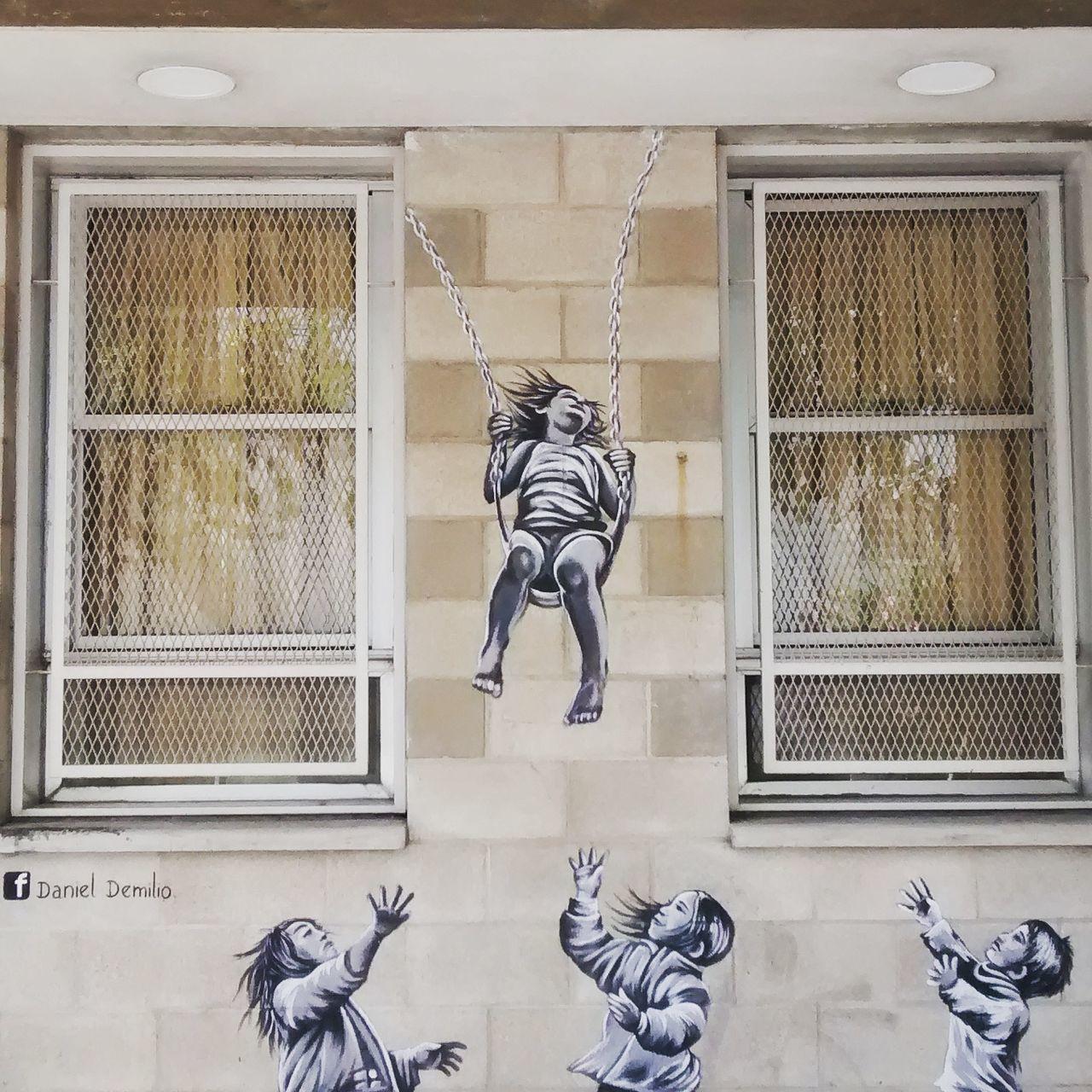 People Stencil Stencil Art Façade Wall