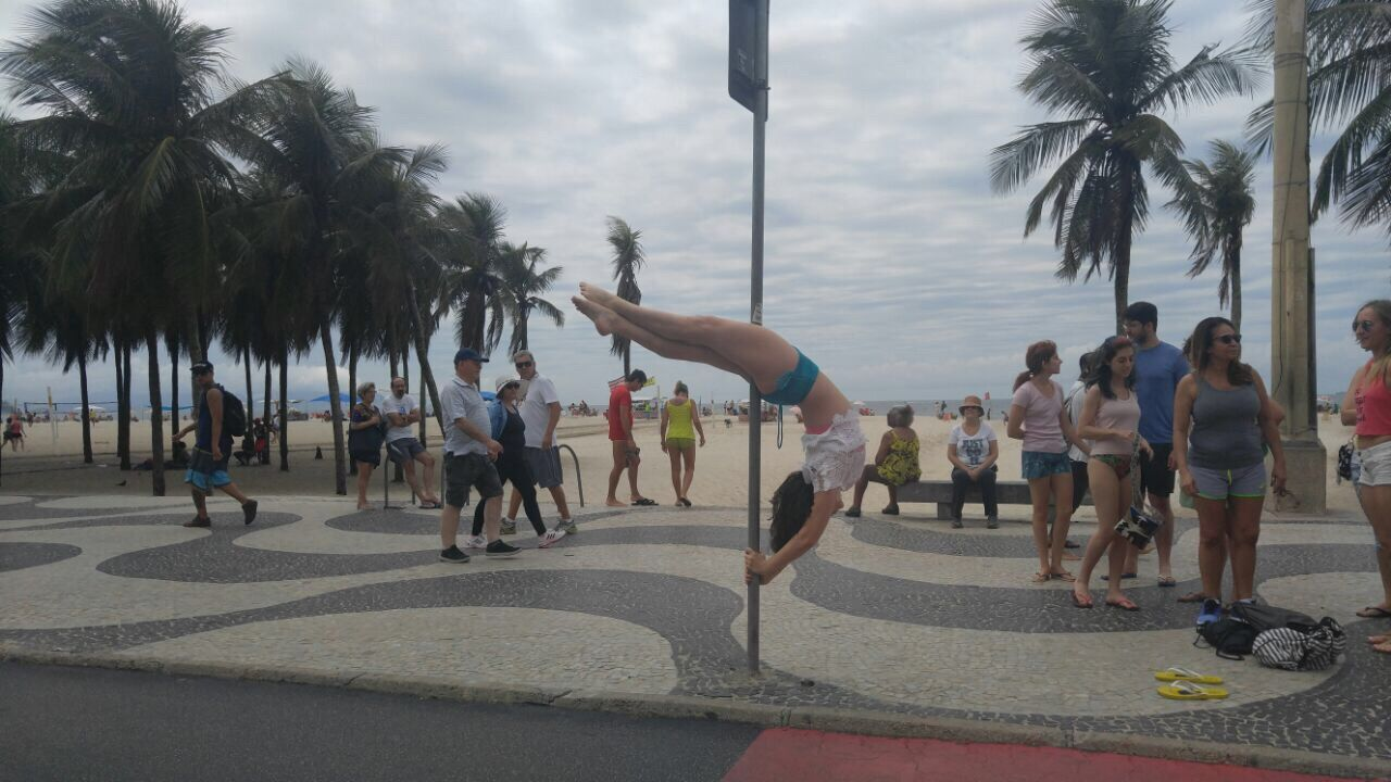 Poledance Streetpole Medialuna Halfmoon Meialua EyeEmNewHere Women Around The World