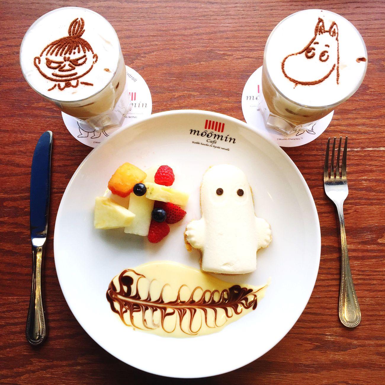 HongKong HKFood Moomin Cafe Cheese Cake Milk Coffee