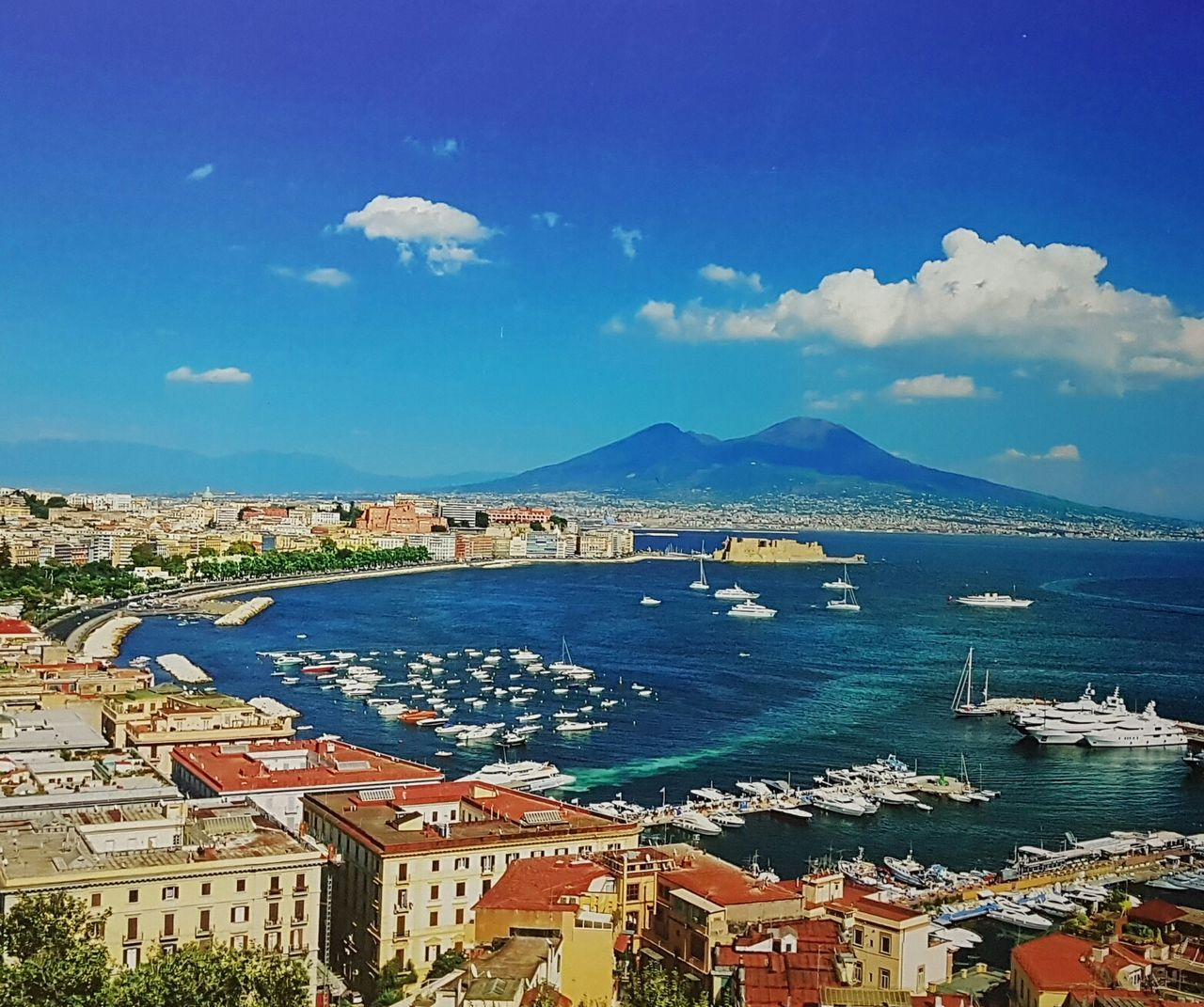 Bay of Napoli from posilippo, Sea Travel Destinations City Mountain Sky Cityscape Outdoors Urban Skyline Architecture Mobile Photography Enjoying Life Battle Of The Cities City Center Blue Cloud - Sky Water Landscape City View  Sea Life Waterfront Napoli Napoli_naples Napoli Italy
