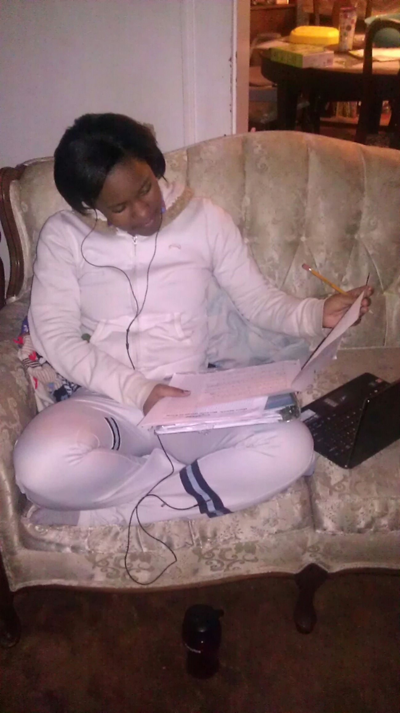 Doing Homework School Girl Homework Flow #PandoraFlow Class Of 13