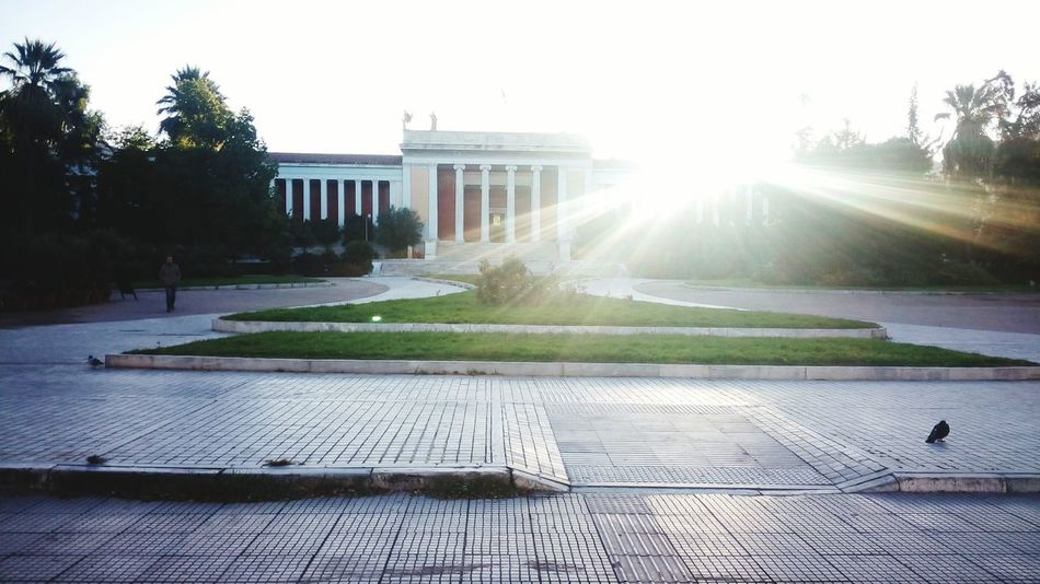Old Building  Museum Sun Beams Towards The Sun! Morning Light Urban Exploration Discover Your City Athens, Greece Athens