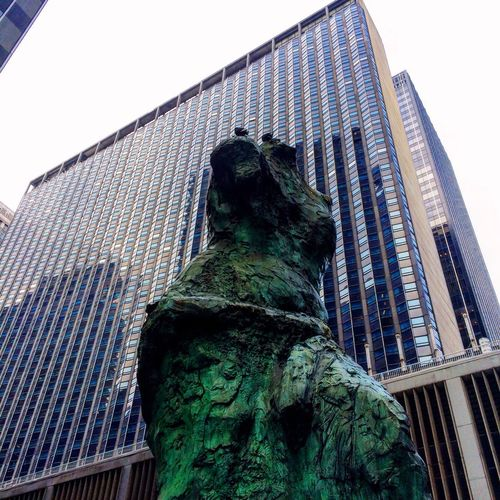 Showcase: November A Public Art Statue Bronze Sculpture in Midtown Manhattan on that on reminisces Venus De Milo by Jim Dine on an Overcast Fall day.    Art Streetphotography Lookup