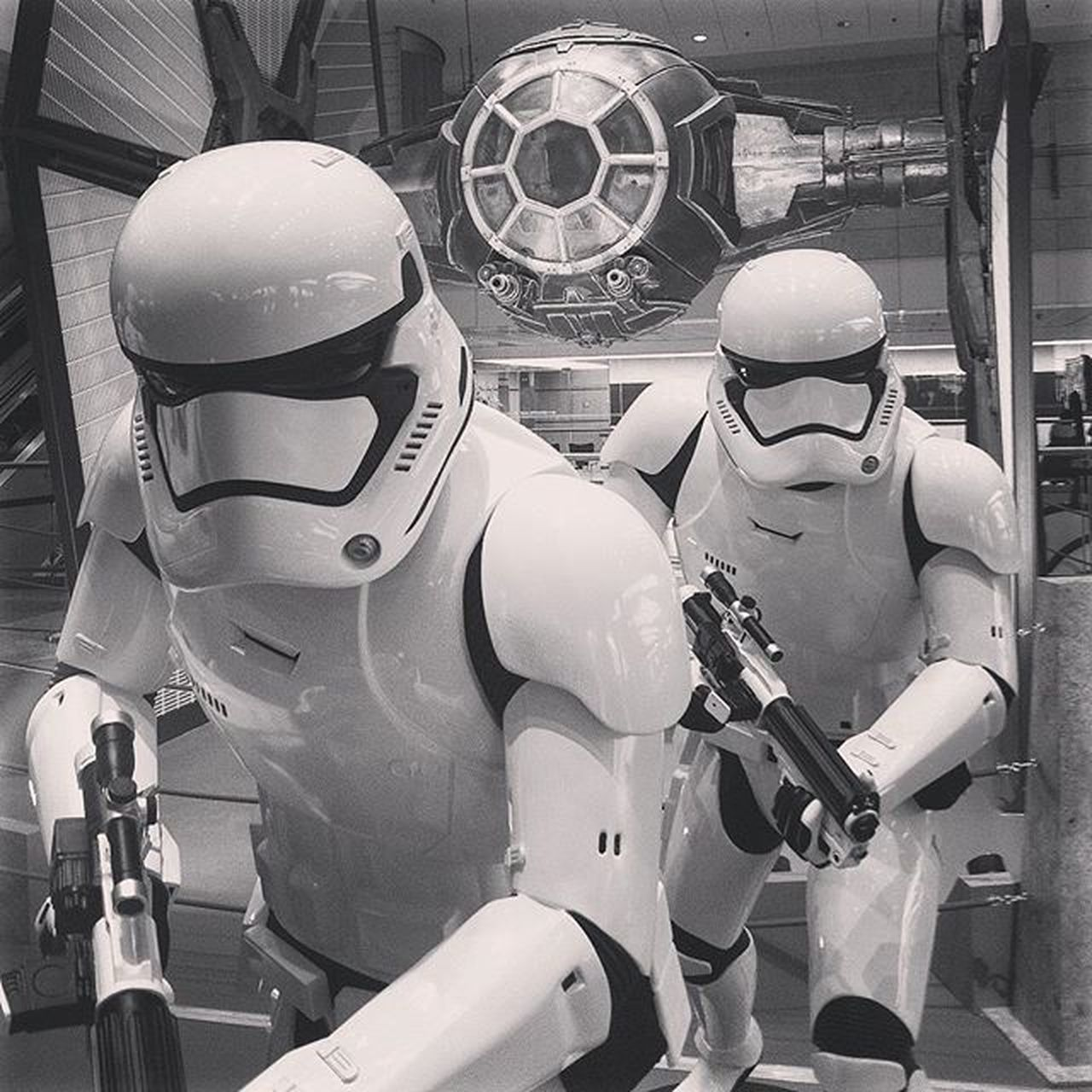 Tie fighter Starwars Galaxy Darkside Empire Stormtroopers Hollywood Film MOVIE Scifi Singapore Changiairport Exhibition Model Instatravelling Instaphoto Instagram Travel Wunderlust Black White Costume