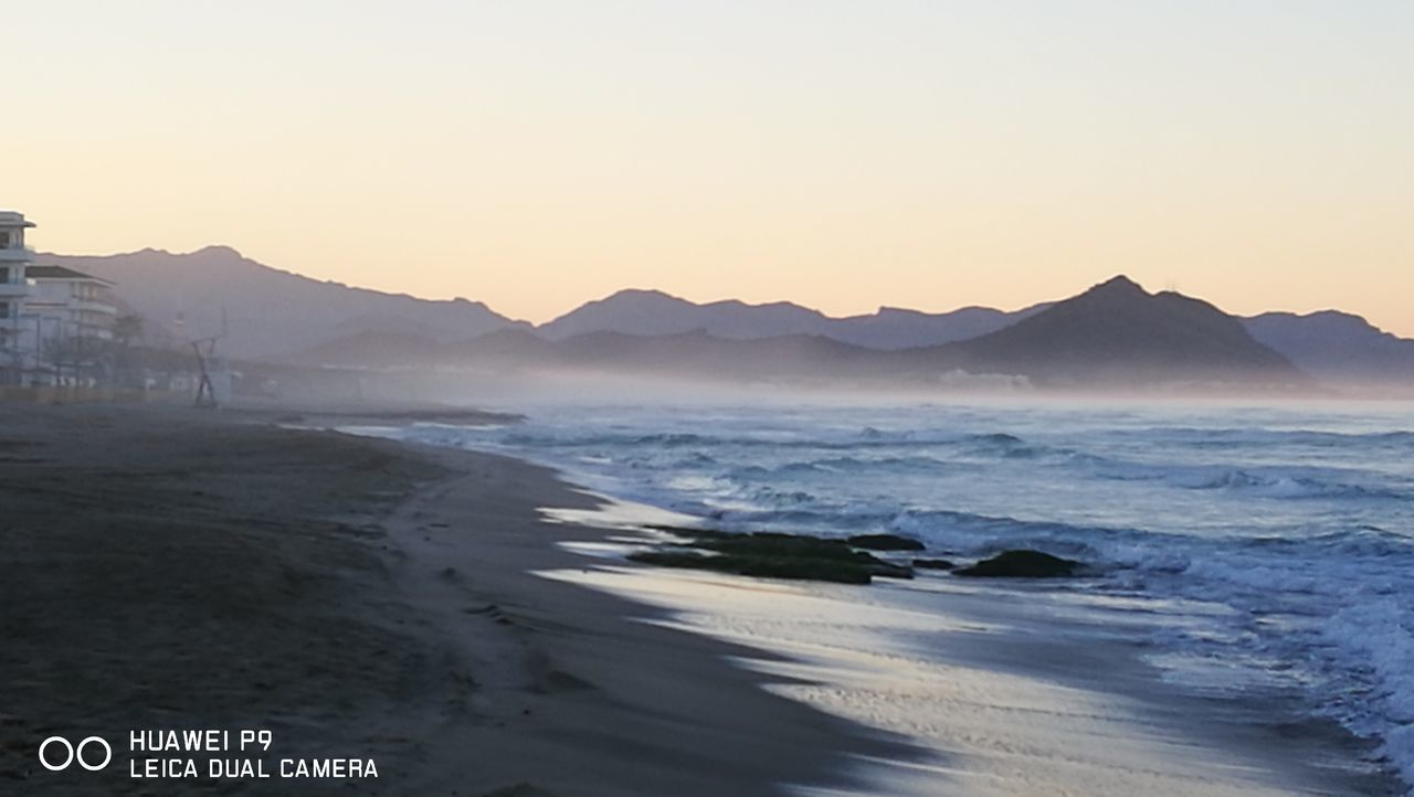 Mystic Moments...the fog is coming.. to the beach... Water Landscape Sea Mountain Sunset Nature No People Scenics Beach Outdoors Wave Sky Day Nostalgic Scene GetbetterwithAlex PalmaDiMaiorca Tranquil Scene Originalpicture Mountain Range