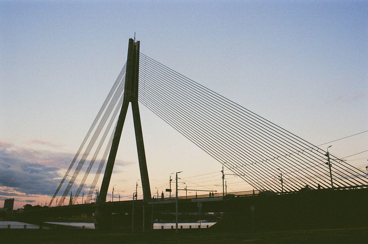 Sky Sunset Sport Built Structure No People Outdoors Connection Architecture Suspension Bridge Day Bridge Riga