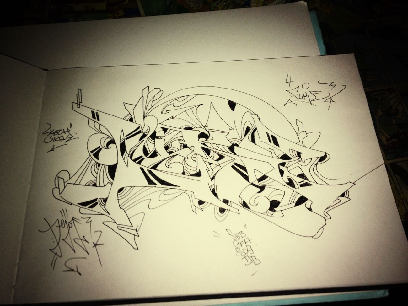 Dejoe  Sketchcircle Graffiti Cuke