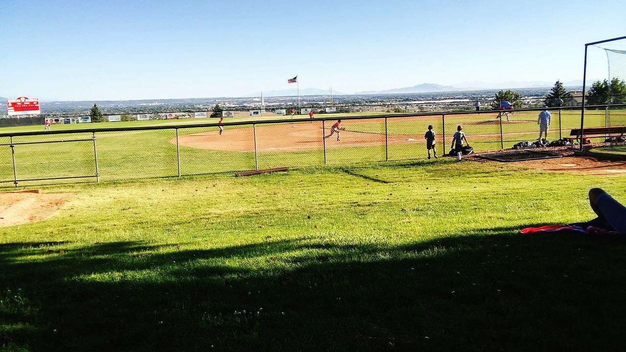 Baseball Blue Sky Game Day Baseball Field Baseball Game Baseball ⚾ Blue Sky And Clouds Weber High School Fremont High School Mountain