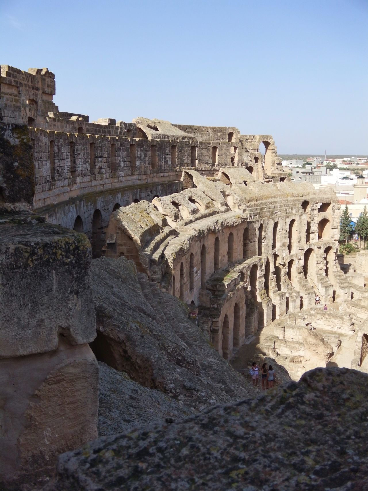 Ruin Amphitheatre Blue Sky Sunshine Summer Traveling El Djem Tunesia Ancient Ancient Architecture Ancient Ruins Historic Historical Building Day
