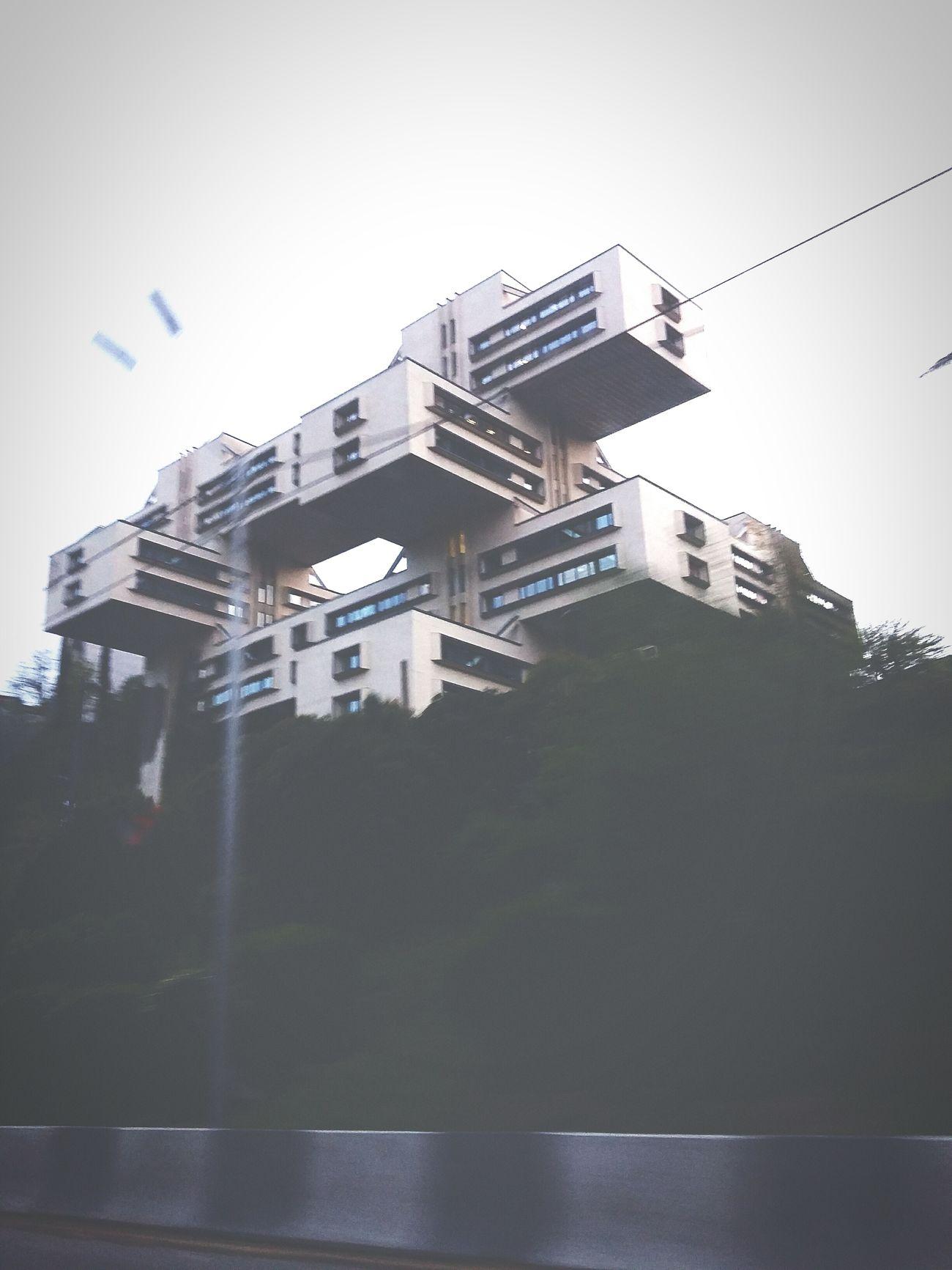 Somewhere in Tbilisi. Soviet style architectur