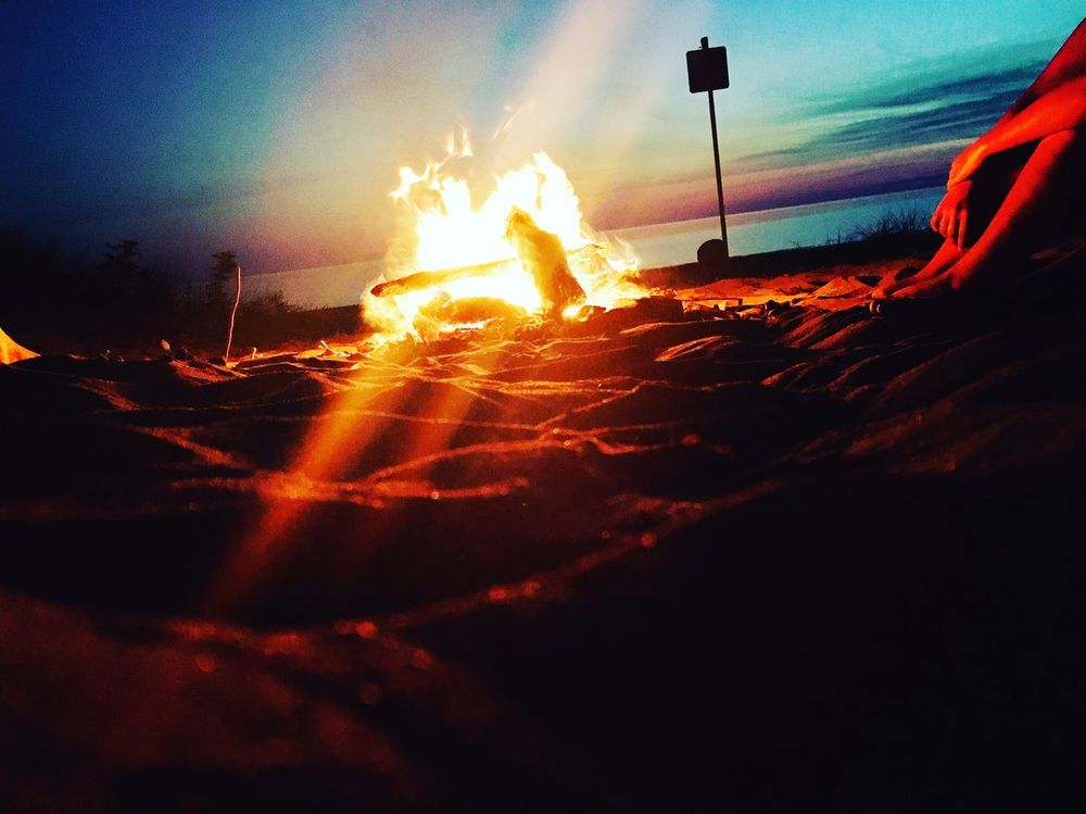 Sunset Beach Fire Outdoors Tranquil Scene Night Bright Colorful Sky View From Below Peaceful Fresh On Eyeem  My Favorite Place 100 Days Of Summer Sommergefühle EyeEm Selects