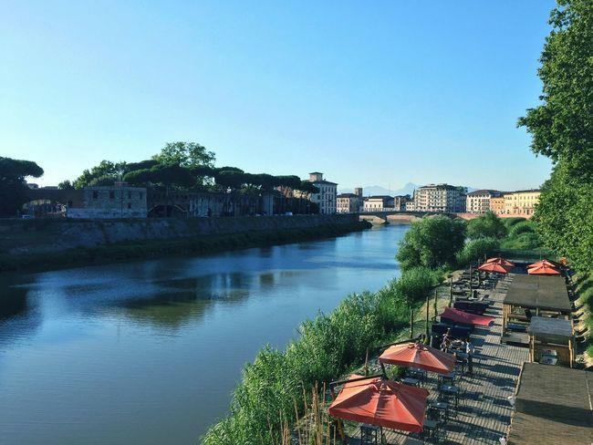 Pisa Italy Walk Walking Walking Around River River View Riverside On The Way Arno  Arno River