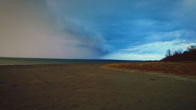 Wasagabeach Summer 2015  Storm Storm Clouds Storm Approaching Beach Weather  First Eyeem Photo Ontario Canada Sand Open Waters
