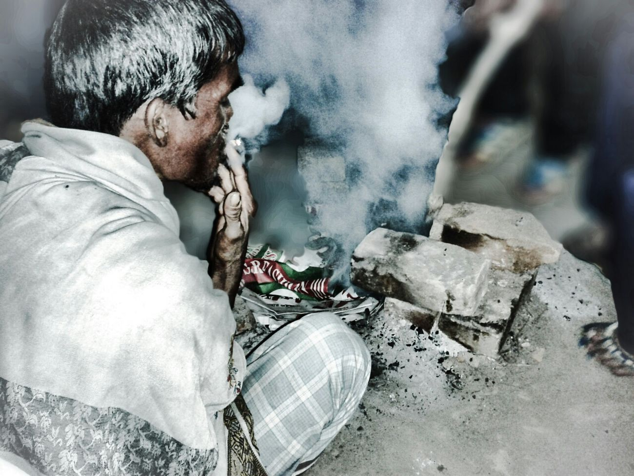 RePicture Ageing Asian Culture Bangladesh Village Life Oldies STRUGGLE LIFE Typical village hard working oldies who smoke & burn woods to warm themselves at the ebd of thr day this is the story of amazing life of Bangladesh