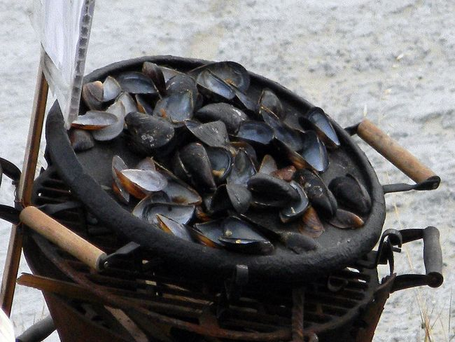 Cauldron Clambake Close-up Cooking No People Preparation  Sea Seafood Shells Still Life Street Cooking