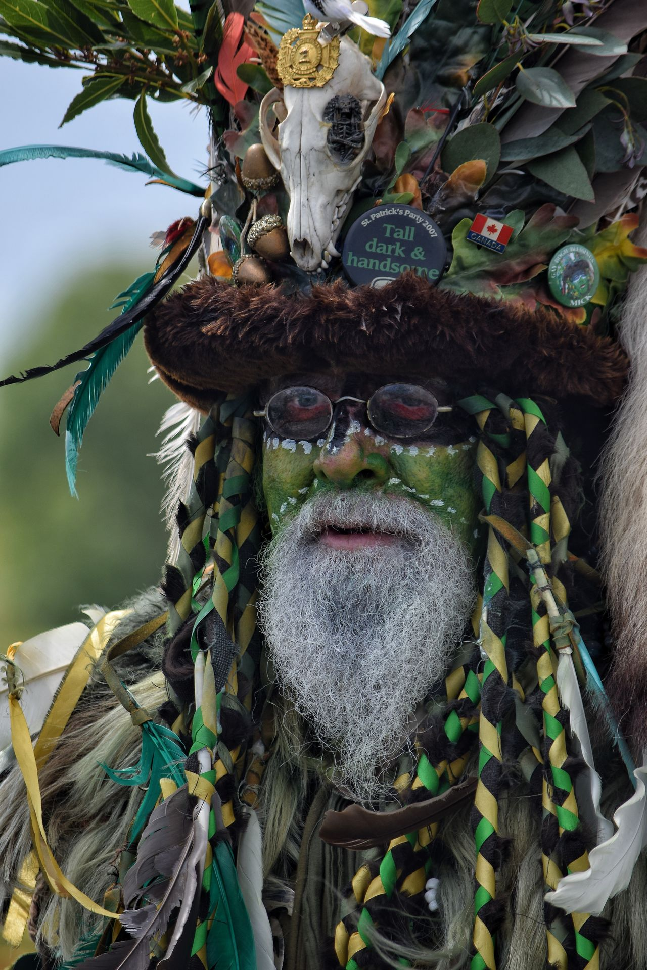 Jack In The Green Jack In The Green Festival May Day 2017 Hastings East Sussex Costume Celebration Parade Green Face Close-up Pagan Outdoors Bearded Man Man Portrait People Festival One Man Only May Festival Green Beard May Day Face Make Up Green Man The Portraitist - 2017 EyeEm Awards