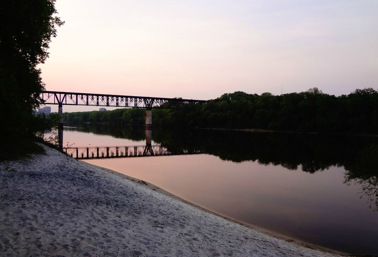 Refection's off the Mississippi river Beauty In Nature Bridge Calm Day Growth Idyllic Lake Landscape Nature No People Non-urban Scene Outdoors Reflection Remote River Scenics Sky Standing Water Tabphotography Train Tranquil Scene Tranquility Travel Destinations Tree Water