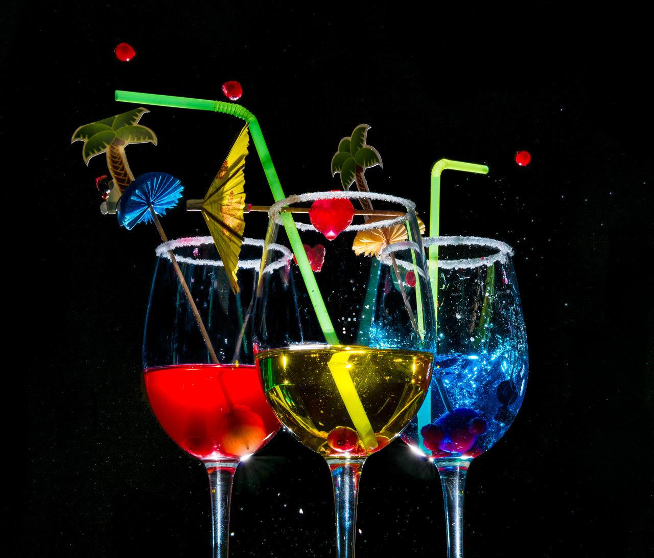 alcohol black background blue closeup cocktail eyeem