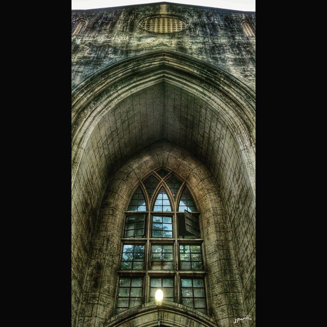 architecture, built structure, indoors, arch, window, transfer print, low angle view, history, building exterior, auto post production filter, interior, no people, architectural feature, pattern, building, ceiling, old, day, design, sunlight