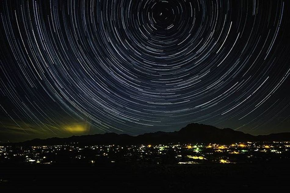 I was feeling guilty for not taking advantage of Tucson 's amazingly clear skies so I decided to fix that... by doing some Astrophotography of the local Mountains . This Startrails composite was taken from W Ajo Highway looking north toward Tucson Mountain Park, Gate's Pass and Starr Pass. Rei Rei1440project Optoutside Myadvofyear VSCO Vscocam Arizona DickMace