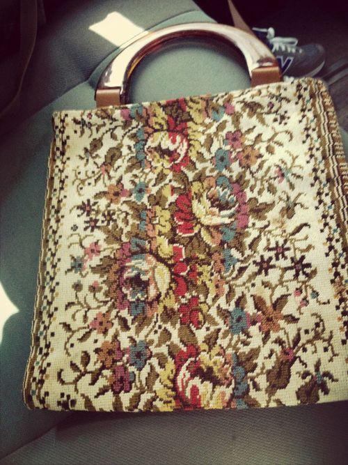 Old 70's handbag Loveoldstuff