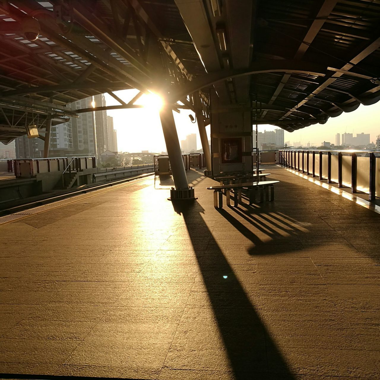 Beforesunset Built Structure Bangkok City Life BTS Station Light And Shadows Architecture HuaweiP9plus Oo