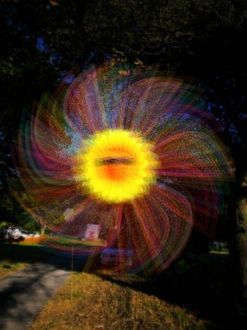 Multi Colored Light Trail Motion Pshycodelic Faery Wind Lomography