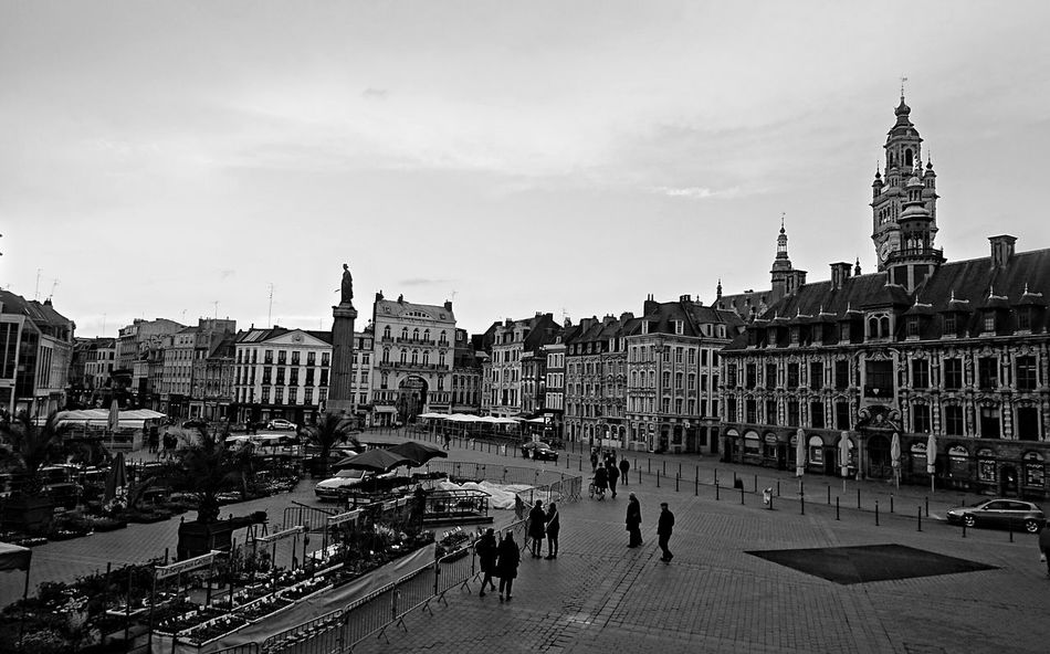 Lille Blackandwhite Hello World Architecture Historical Building Place To Be  Grand Place B&w Structure Shadows & Lights City City View  City Street
