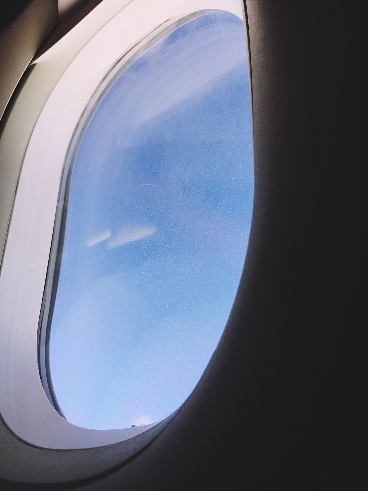 From An Airplane Window Geometry Geometric Shape Blue Window Airplane Window No People Day